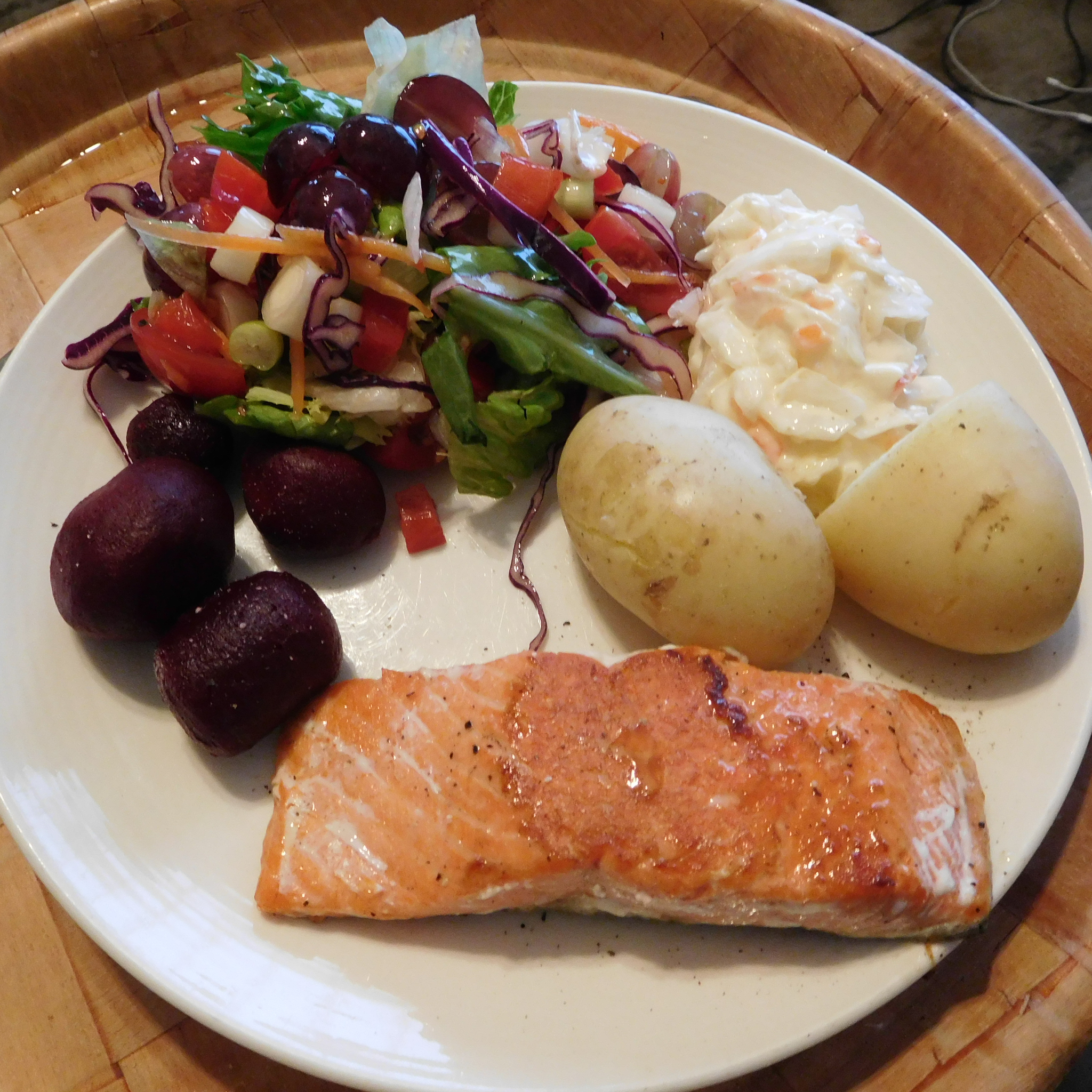 2017-04-18 Dinner.  Salmon