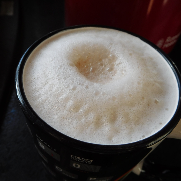 2017-04-24 Snack.  Chai Latte from Tassimo