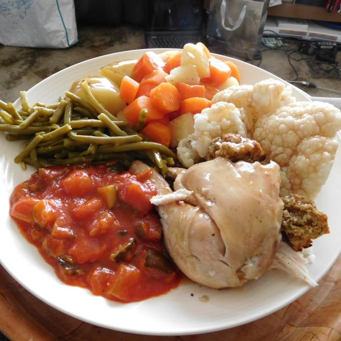 2017-05-02 Lunch. Roast Chicken