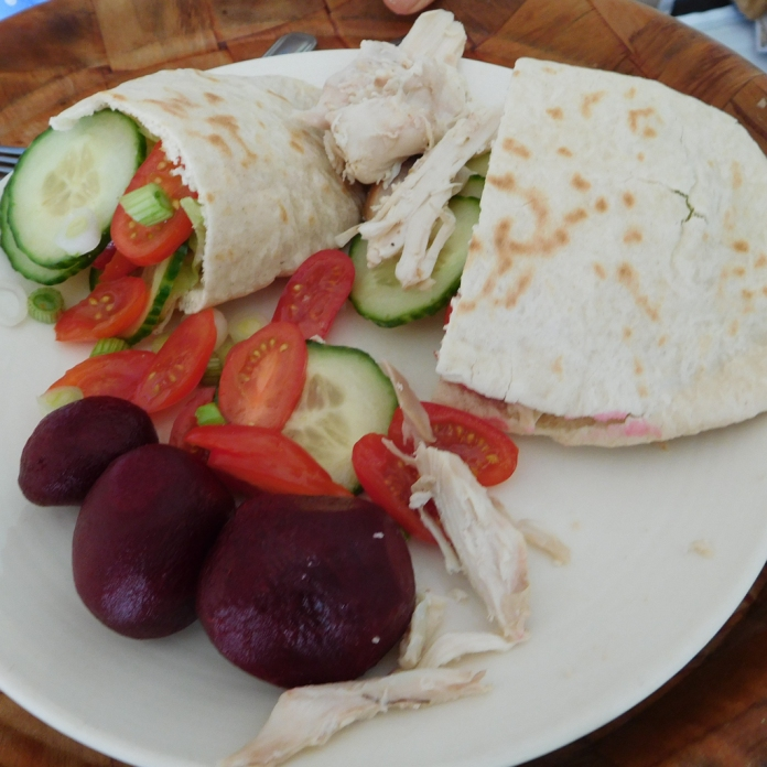 2017-05-03 Christine's Lunch. Chicken Pitta