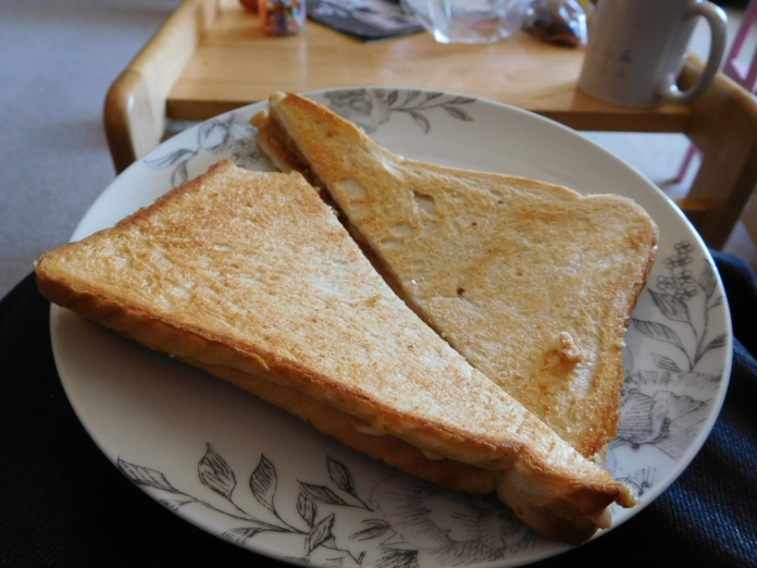 2017-05-14 Lunch. Cheese and Pickle Toasted Sandwich