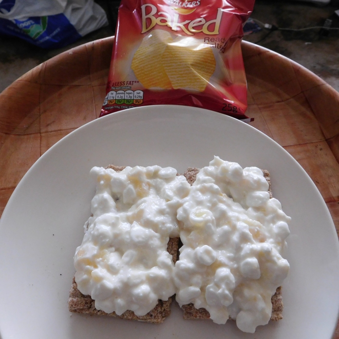 2017-05-15 Lunch. Cottage Cheese on Crispbreads